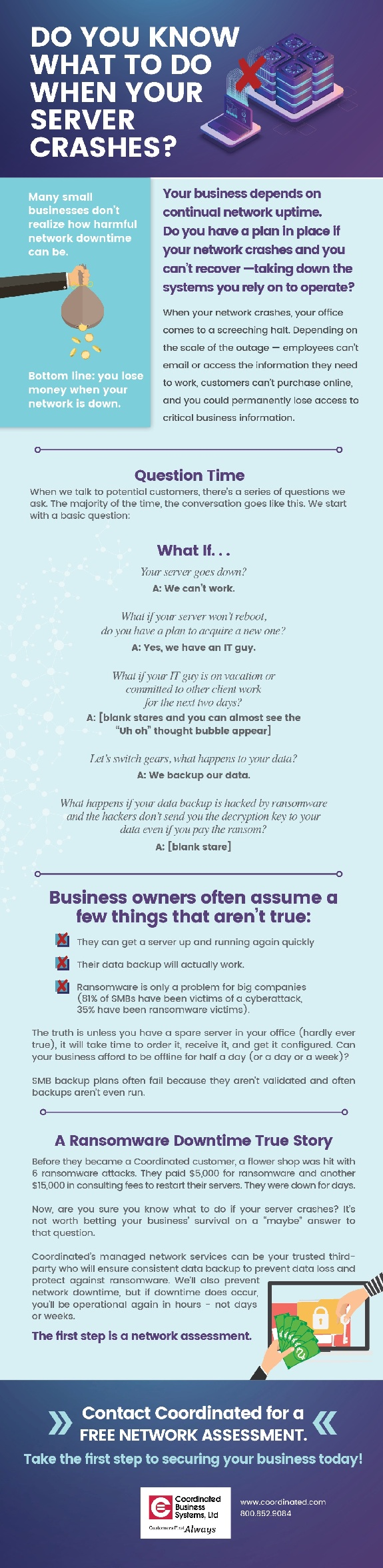 [Free Infographic] Do You Know What To Do When Your Server Crashes