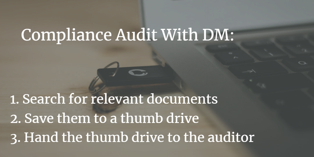 1.compliance DM and thumb drive