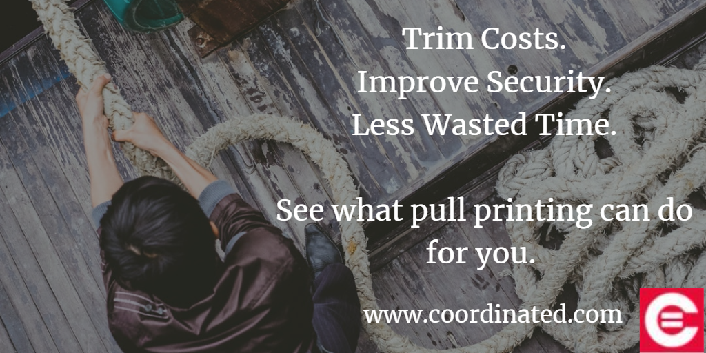 Trim costs, improve security, stop wasting time. What can pull printing can do for you?