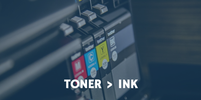 Toner may cost more upfront, but it wil save your SMB more money in the long run - plus it's better than printer ink.