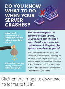 Do you know what to do when your server crashes [infographic]